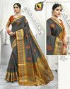 Festival Wear Chanderi Cotton Ladies Designer Saree With Blouse Piece