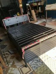 Queen Size Metal Hydraulic Bed With Storage