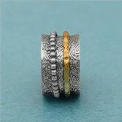 925 Sterling Silver Anniversary Spinner Ring