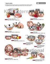 Hotelware Copper  Kadhai and Handi