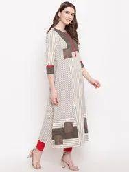 Grey Khadi Stripes Kurta