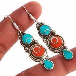 Nepali Hanging Tibbetian Jewelry Earrings