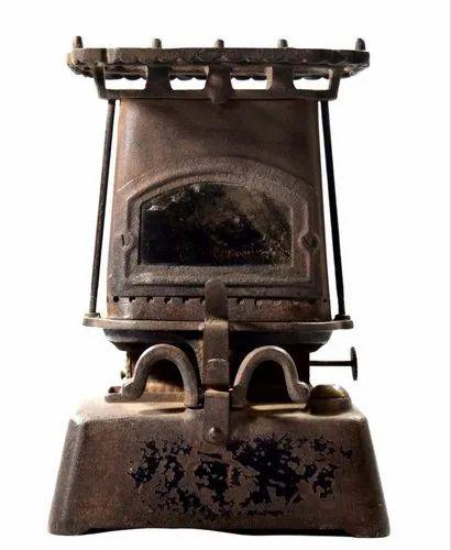 Rare Antique Cast Iron Oil Kerosene