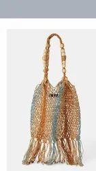 Natural Cord Bucket Bag