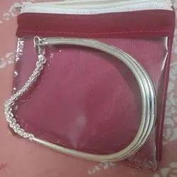 92% Round Silver Kada Payal