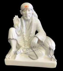 Raj Creations Marble Sai Baba Murti