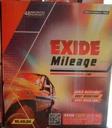 Exide Car Batteries, Capacity: 40AH