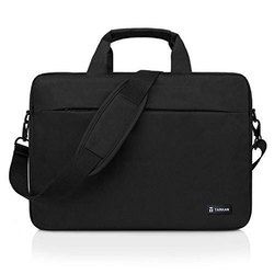 Tarkan Cosmos Water Resistant Padded Laptop Bag for Men Shoulder Briefcase (Black) (15.6)