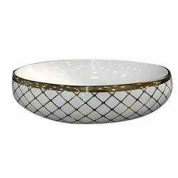 Designer Ceramic Counter Top Wash Basin for Bathroom