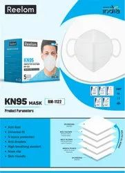 Reelom RM-1122 KN-95 5 Layer Protection Face Mask-White
