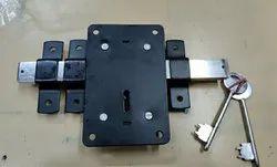 Mild Steel 10 Chal Locks, For Security, Black