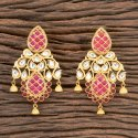 Kundan Matte Gold Plated Classic Earring 300261