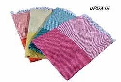 Cotton Towel Checks And Stripe, For Bathroom, Size: 3060