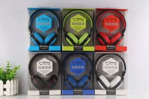MIC Multicolor MS-771 Wireless Headphones with Aux FM and Card Support, 350 Gram