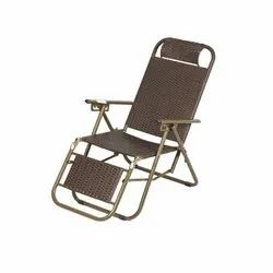 Brown Rectangular Mild Steel Relax Chair, For Home, Outdoor