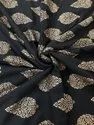 120 GSM and 140 GSM Rayon Gold Print Fabric for Clothing