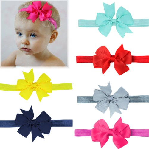 f77feae0a Bembika Grosgrain Ribbon Hair Bows Headbands For Baby Girls Infants ...