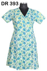 Cotton Hand Block Print Women's Long Wrap Dress DR393