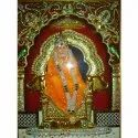 Wooden Sai Baba Painting, Size: 24x30 Inch