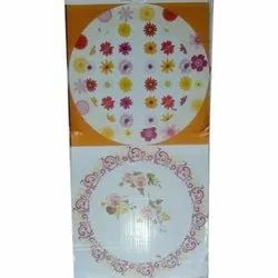 Printed Disposable Paper Plate Raw Material, 60 - 100, Packaging Type: Packet
