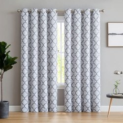 Printed Cotton Window Curtain, Size: 5 To 6 Feet(h)