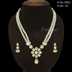 Pearl Stone Necklace Set