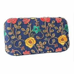 Ladies Embroidered Box Clutch