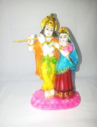 Disha Enetrprise Multicolor Radha Kirshna Marble Idol, Size: 8 Inch And Above, for Home