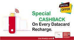 Data Card Recharge Or Bill Payment Service