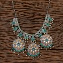 Two Tone Indo Western Trendy Necklace 101121