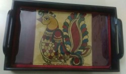 Rectangle Kalamkari Tray, Packaging Type: Carton