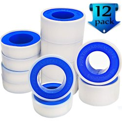 Plain White P.T.F.E. Thread Sealant Tape