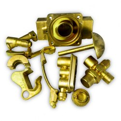 Brass Earthing and Forging parts, Gold