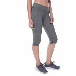 Gray Sports Wear Rock Grey Capri, Dry clean