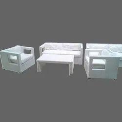 White Wicker Sofa Set