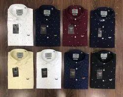 Collar Neck Printed Hackett Men's Shirts