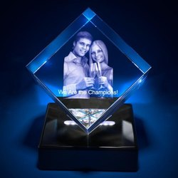3d Crystal Personalized Anniversary Gift