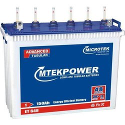 Microtek ET648 Inverter Battery, 150 Ah, Warranty: 36+12 months