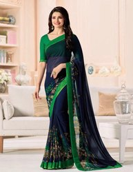 Casual Bollywood Georgette Printed Sarees, 5.5 m (separate blouse piece)