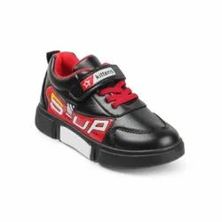 Kids Black Casual Lace Up Shoes