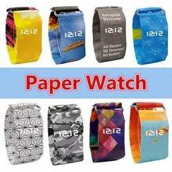 Wristwatch Fashion Creative Paper Watch LED Waterproof Clock Tyvek Paper Strap Digital Watches