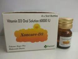 Cholecalciferol 60000 I.U. Vitamin D3 Sachets
