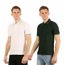 Mens Cotton Collar Neck T-Shirt