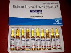 Thiamine Hydrochloride Injection IP, Vision Remedies, 10 X 2 Ml Ampoule