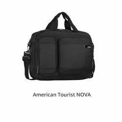 Black Plain American Tourister NOVA Small Briefcase