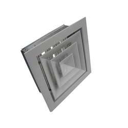 Aluminium Powder Coated Air Conditioning Diffuser, For Industrial, Shape: Square