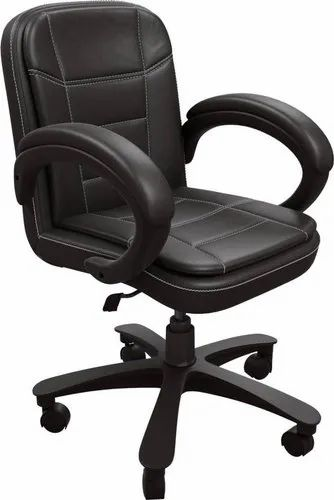 DZYN Furnitures Leatherette Office Executive Chair (Black), Model Name/Number: Baxtonn
