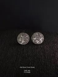 Old Silver Finish Studs
