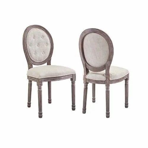 Wondrous Mango Wood Round Back Chair With Upholstery Uwap Interior Chair Design Uwaporg