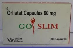 Go Slim Orlistat Capsules, Packaging Type: Box, 60 Mg